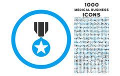 Army Award Rounded Icon with 1000 Bonus Icons Stock Illustration