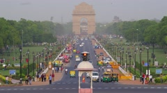 TIMELAPSE Busy Rajpath road towards India Gate,New Delhi,India Stock Footage