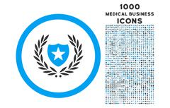 Glory Shield Rounded Icon with 1000 Bonus Icons Stock Illustration