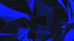 Seamless Loop - Abstract Futuristic Blue Structure Polygon Stock Footage
