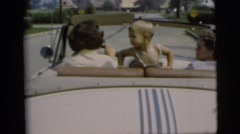1955: a family is seen going on a trip with a small child PENNINGTON, NEW JERSEY Stock Footage