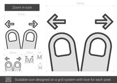 Zoom in line icon Stock Illustration