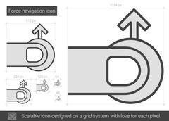 Force navigation line icon Stock Illustration