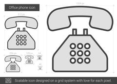 Office phone line icon Stock Illustration