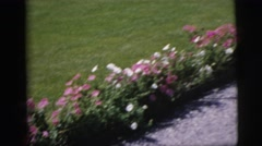 1955: home video of family playing together in the driveway PENNINGTON, NEW Stock Footage