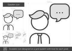 Speaker line icon Stock Illustration