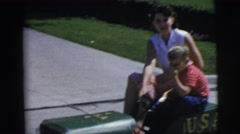 1955: mother playing with her boy PENNINGTON, NEW JERSEY Stock Footage