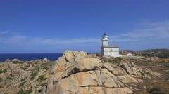 Lighthouse on Sardinia.  Stock Footage