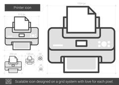 Printer line icon Stock Illustration