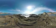 360 Video, 4K, Tidepools, Treasure Island Beach, Laguna Beach Stock Footage