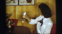 1955: child and family having fun together PENNINGTON, NEW JERSEY Stock Footage