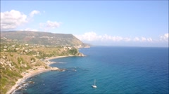 "The beautiful beach of "" grotticelle "" at capo  Vaticano in Calabria,italy Stock Footage"