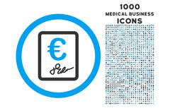 Euro Contract Rounded Icon with 1000 Bonus Icons Stock Illustration