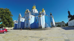Panorama of St Michael Monastery in Kiev Stock Footage