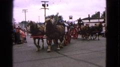 1963: firefighters parade BARRINGTON, ILLINOIS Stock Footage
