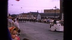 1963: vintage town parade celebration BARRINGTON, ILLINOIS Stock Footage