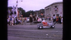 1963: celebrations in the square BARRINGTON, ILLINOIS Stock Footage