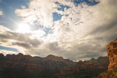 6K Time Lapse of Evening Sky over Boynton Canyon Vortex in Sedona, Arizona  Stock Footage