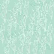 Floral light green seamless pattern Stock Illustration