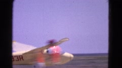 1964: a plane is seen taking off ELMIRA, NEW YORK Stock Footage
