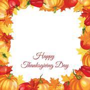 Thanksgiving Day Greeting Card Stock Illustration