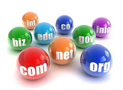 Domain spheres isolated 3d illustration Stock Illustration