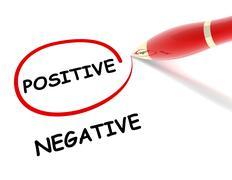 Positive negative concept  3d illustration Stock Illustration