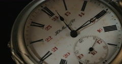 Antique pocket watch Stock Footage