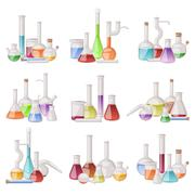 Lab flask vector set Stock Illustration