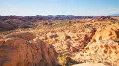 TimeLapse of Sunset over Red Sandstone in Valley of Fire SP -Zoom Out- Stock Footage
