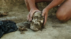 Archaeological excavations in the Zaporozhye region, Ukraine.  Stock Footage