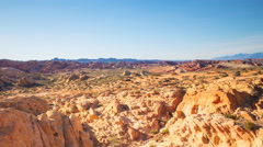 TimeLapse of Sunset over Red Sandstone in Valley of Fire SP  Stock Footage