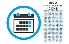 Month Calendar Rounded Icon with 1000 Bonus Icons Stock Illustration