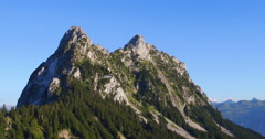 """Aerial Footage of """"Mount Mythen"""" in the alps in Central Switzerland, 4K, UHD Stock Footage"""