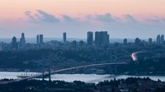 Bridge Timelapse Bosphorus Stock Footage
