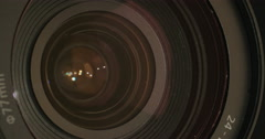 Photography zoom lens Stock Footage