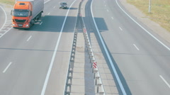 Time Lapse Highway, Freeway, Motorway. Country route, road Stock Footage