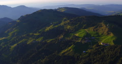 Aerial Shot of Central Switzerland during sunset, 4K, UHD Stock Footage