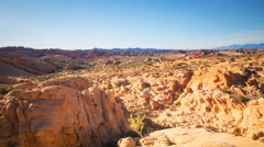 TimeLapse of Sunset over Red Sandstone in Valley of Fire SP -Tilt Down- Stock Footage