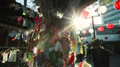 Tanabata and chinese linterns Stock Footage