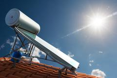 Renewable energy for house Stock Photos