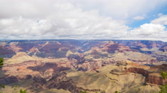 Time Lapse of Monsoon Clouds over Grand Canyon National Park -Long Shot- Stock Footage