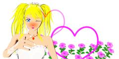 Young Japanese Bride Stock Illustration