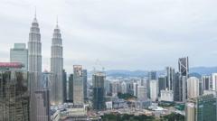 Time lapse of day to night sunset scene at Kuala Lumpur city skyline. Stock Footage