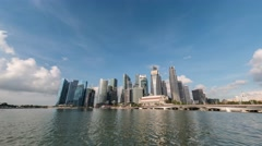 Singapore city skyline at Marina Bay timelapse, Singapore 4K Time lapse Stock Footage