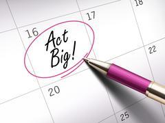 Act big words Stock Illustration