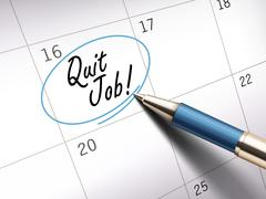 Quit job words Stock Illustration