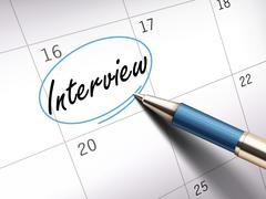 Interview word marked Piirros