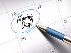 Moving day words Stock Illustration