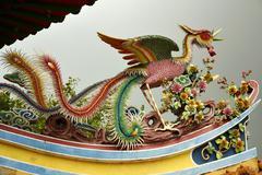Phoenix on the eave of Thean Hou Temple in Kuala Lumpur. Kuvituskuvat